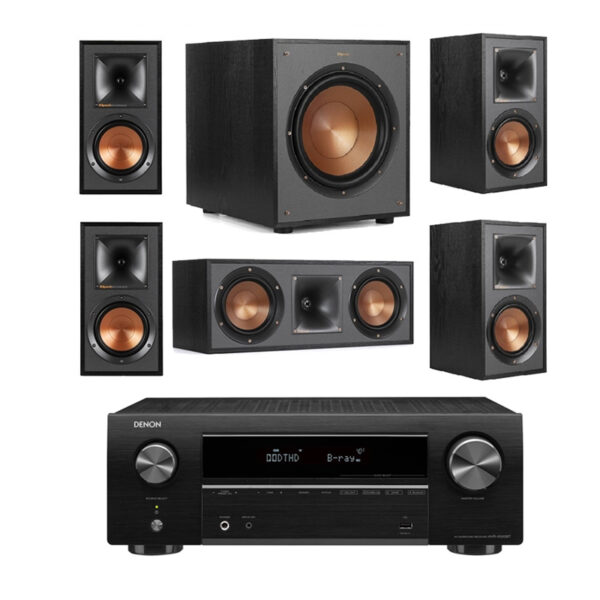 Klipsch KSSYS1 – R-51M and Denon AVRX550BT 5.1 Surround System