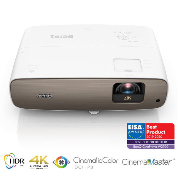 BenQ W2700 True 4K UHD Projector with DCI-P3/Rec.709 and HDR-PRO