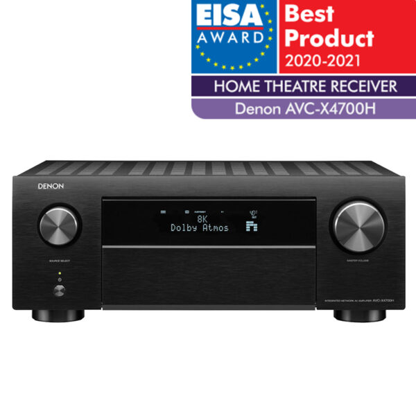 Denon AVR-X4700H 9.2 Ch. 8K AV receiver with 3D Audio, HEOS® Built-in and Voice Control