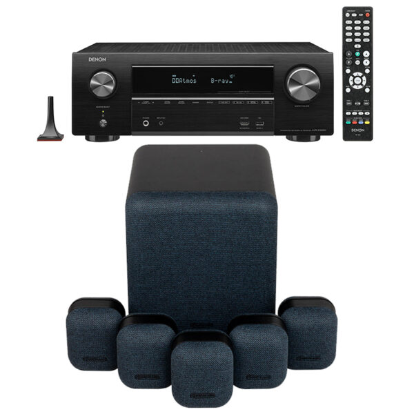 Monitor Audio MASS 5.1 System with Denon AVR-X1600H AV Receiver
