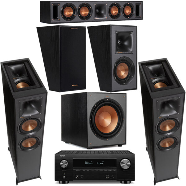 Klipsch KSSYS8 – R-625FA and Denon AVCX3700H 5.1.2 Atmos Surround System