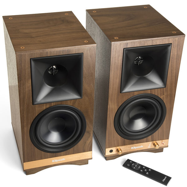 Klipsch The Sixes Powered Bookshelf Speakers with Bluetooth® and built-in Phono Preamp (Pair)
