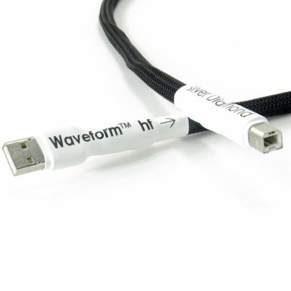 Tellurium Q Silver Diamond Waveform™ HF USB Type A to Type B Cable